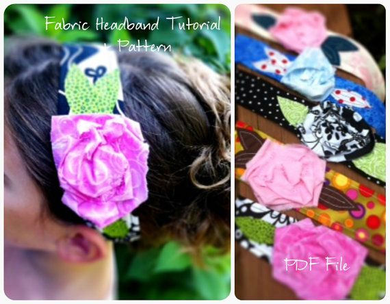 @ Dianna. We should make these! Fabric Flower Headband Tutorial How To by TheSewingLoft on Etsy, $5.00