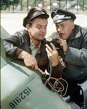 Bob Crane and Werner Klemperer from HOGAN'S HEROES