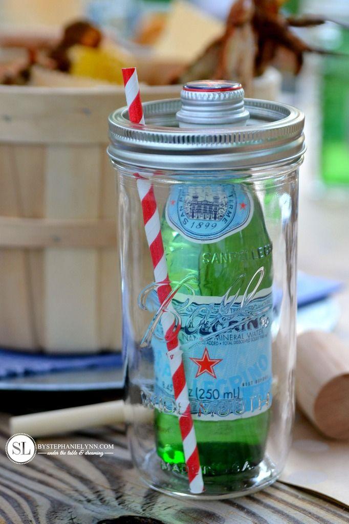 Crab Feast Mason Jar Drinks from MichaelsMakers By Stephanie Lynn