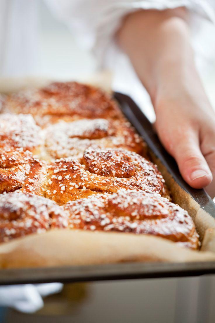 Recept på brytbröd av kanelbullar med äppelsmak