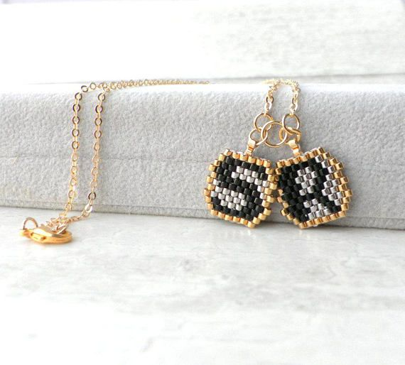 I created absolutely perfect Woman Personalized Necklace Custom set of initials for any Birthday gift wife from husband in Sterling silver with gold letter necklace by hand bead woven allow you to made Custom personalized Letters initials necklace piece of your choose. All those letters I