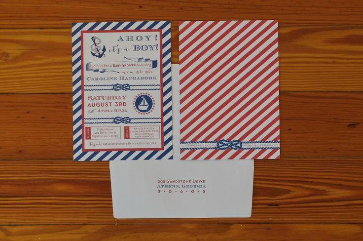 nautical baby shower details, nautical printed materials, natalie bradley events, baby shower idea, party planner blog, plain jane designs