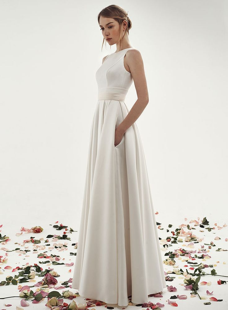 Свадебное платье Голди длинное