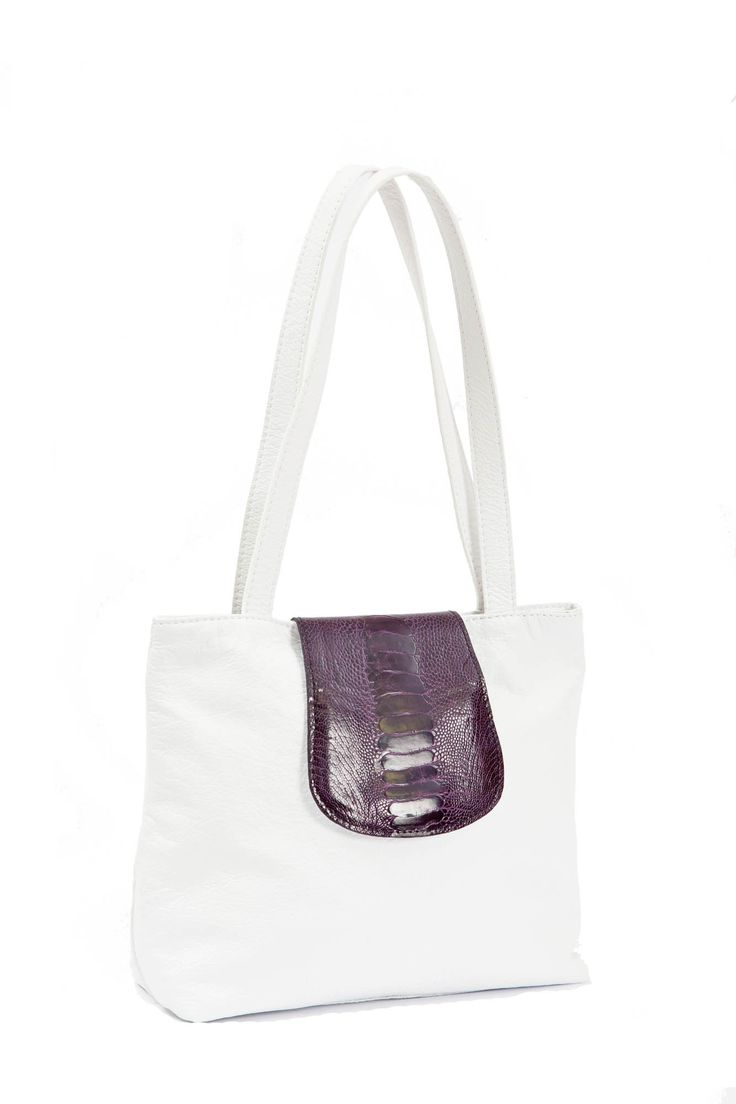 Karoo Heidi Bag.   Karoo Heidi Bag with two shoulder straps and an ostrich leg skin flap that closes with a magnetic snap. 60 Colours to choose from GoodiesHub.com