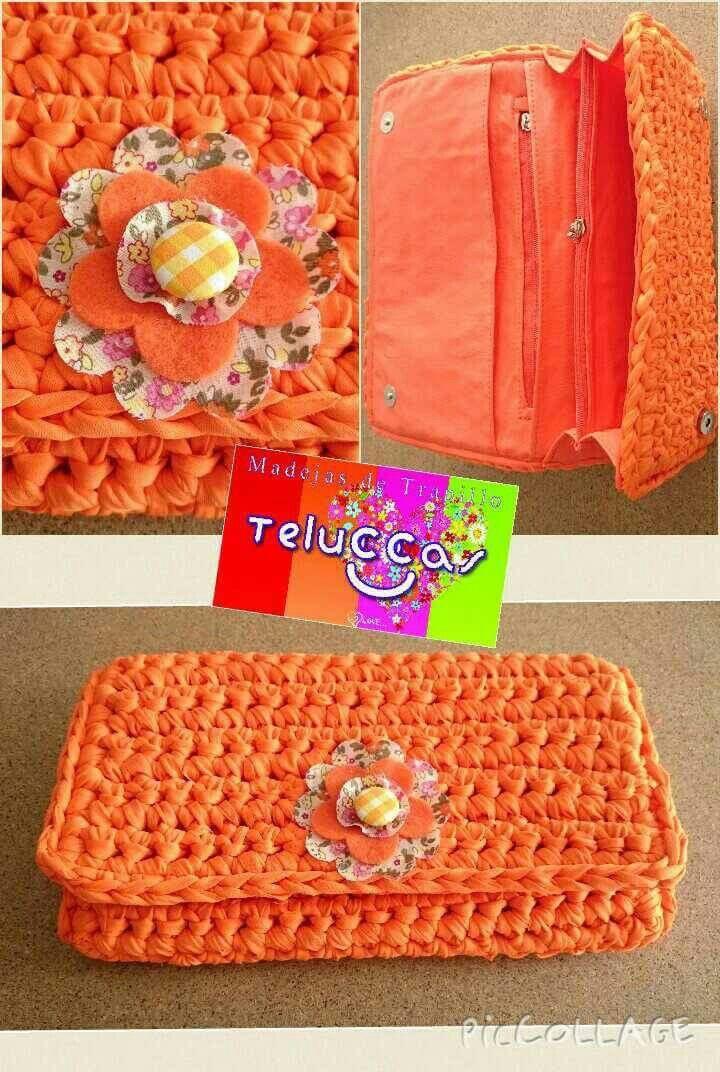 Cartera de trapillo plano. Teluccas Mesetas. #trapillo #Trapillo #tejer #manualidades #hechoamano #hechoenmexico #crochet