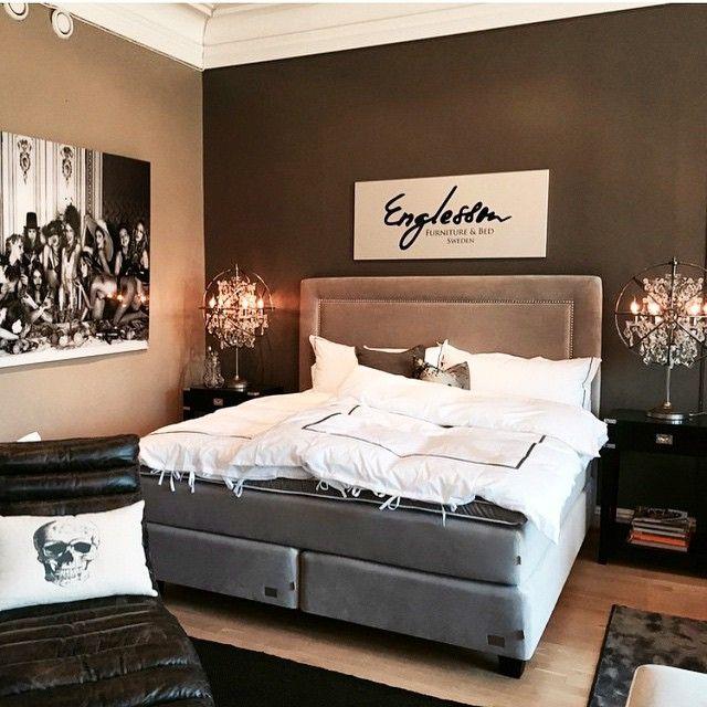 Våra nya gavel Hudson tillsammans med säng Empire. Sov gott vakna utvilad #englessonfurniture #englesson #englessonfurnitureandbeds #continentalsäng #sovrum #sovgott