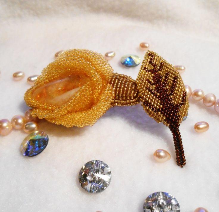 Мастер-классы: МК по плетению розочки вокруг кабошона