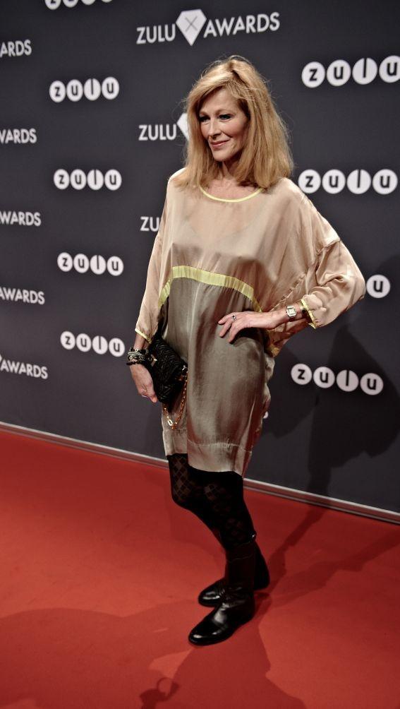 Writer Susanne Bjerrehus in Rützou dress