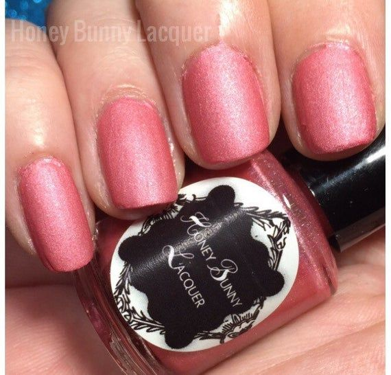 Pinkini – matte nail polish – matte pink polish – 5 free – handmade – indie nail…
