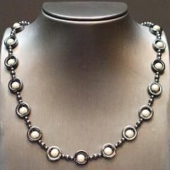 """Hematine, Japanese Miracle, Sterling silver  Length: 17"""" - 19"""" / 43cm - 48cm Item #: nec015"""