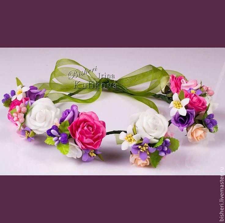 Нежные цветочные венки для волос - цветочные украшения,венки для волос