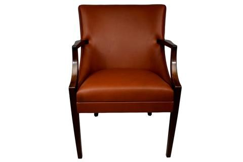 Early Danish mid-century aniline leather armchair Ole Wanscher, A.J. Iversen