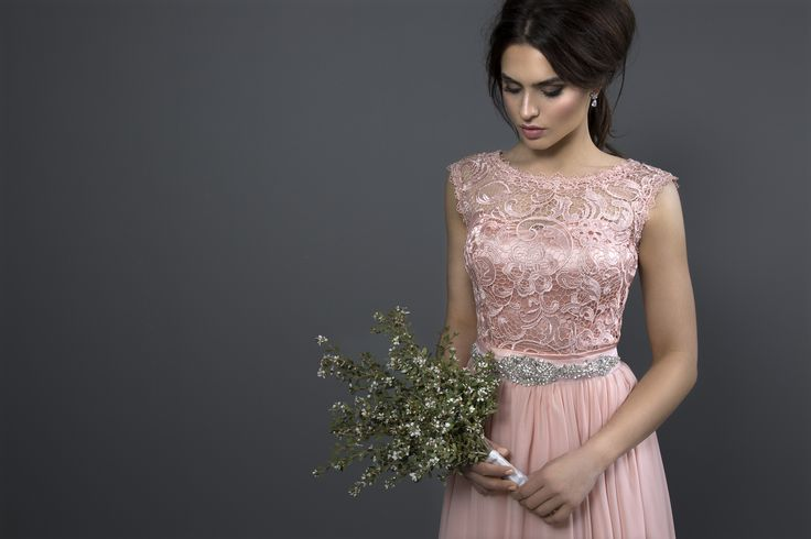 PARIS //the city of love inspires our romantic rose pink lace bridesmaid dress... styled with diamante and pearl tie-up belt// http://wildvioleteveningwear.com.au/product/paris/