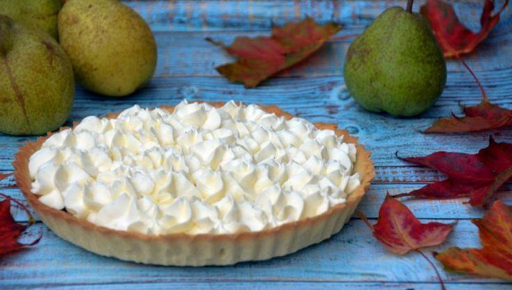 Sós karamelles-körtés tart mascarponehabbal - őszi pite recept  Salted caramel-pear tart with mascarpone cream - recipe