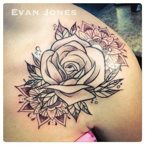 the 25 best rose mandala tattoo ideas on pinterest. Black Bedroom Furniture Sets. Home Design Ideas