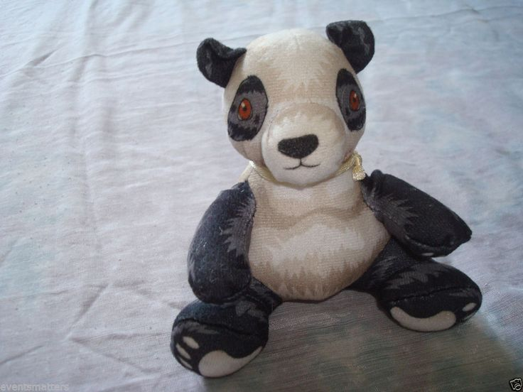 "Burger King ENDANGERED PANDA BEAR 4"" Stuffed Animal Surface Washable (Item: 264)"