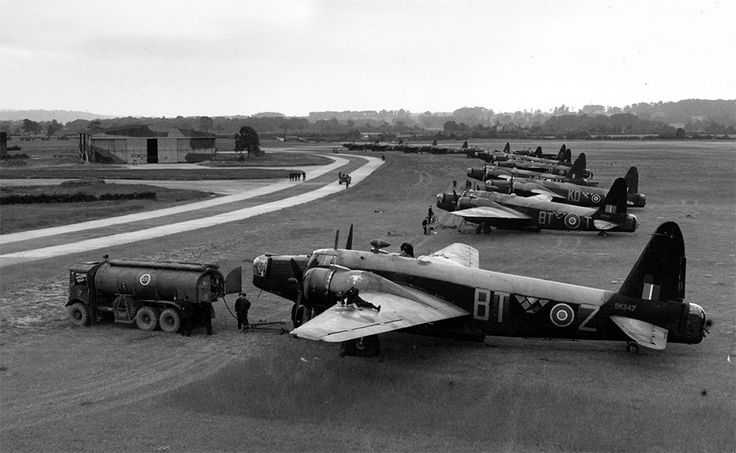 Wellington Mk IIIs of No. 30 Operational Training Unit at RAF Hixon, Staffordshire, September 1943