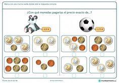 Ficha de señalizar el precio exacto de la pelota para primaria