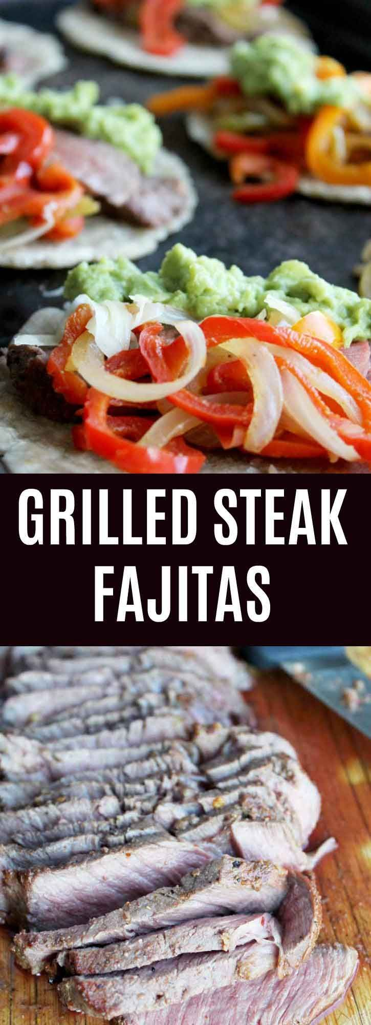 Easy Grilled Steak Fajitas Recipe | This a simple recipe that our family loves all year round. Easily made Paleo with grain free tortillas & dairy-free by omitting the cheese.  | thenourishedfamily.com