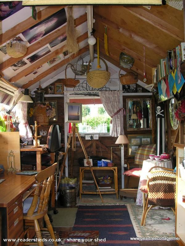 'The Studio', Workshop/Studio shed from Pear Tree Cottage Garden
