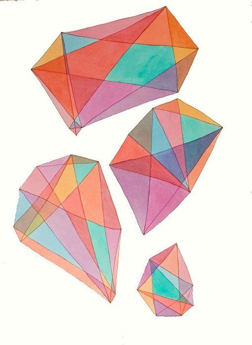 Kristy Modarelli: Geo Art, Colors Diamonds, Gem Prints, Geometric Shape, Textiles Pattern, Drawing, Kristy Modarelli, Colors Gemstones, Art Projects
