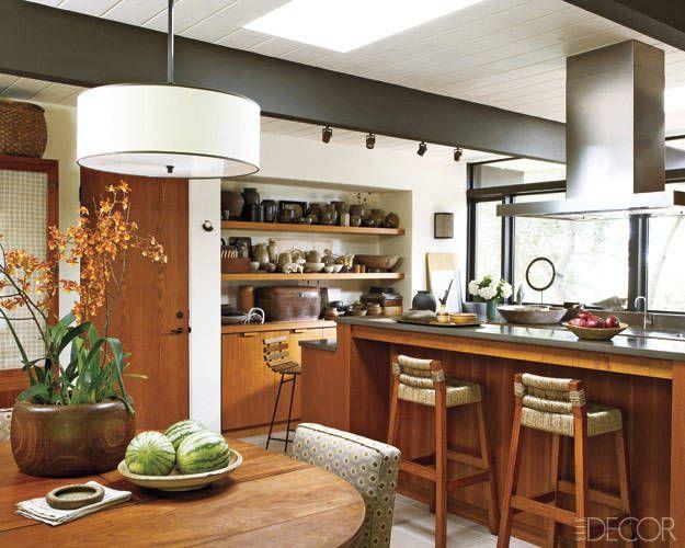 Kitchen by Michael DePerno; Elle Decor June 2011: Modern, Decor, Twists, Wood, House Interiors, California Style, Design, Dream Kitchens, Teak Cabinets