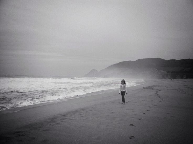Miriam Weber @Miri   Montara Beach, CA , my favorite beach on the Pacific coast. It's a very calming place for me