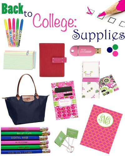 index cards, usb, agenda, highlighters (for color coding) pencils, pens, notebooks, binders
