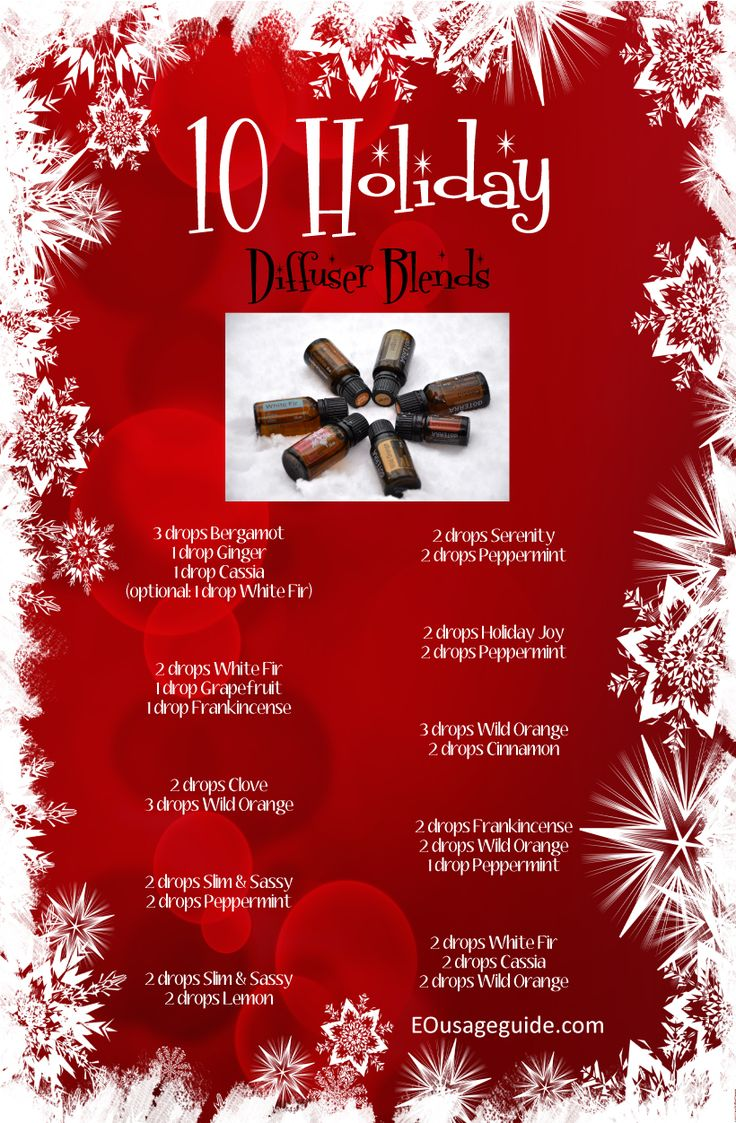 Holiday Diffuser Blends DIY  #essentiloils #christmas http://www.mydoterra.com/1417154