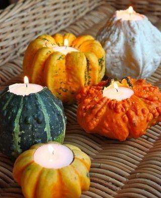 Gourds & tealights