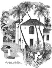The works of Mario de Miranda - the renowned cartoonist from Goa - as a wall art.
