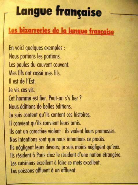 Qu'est-ce que le français est bizarre !