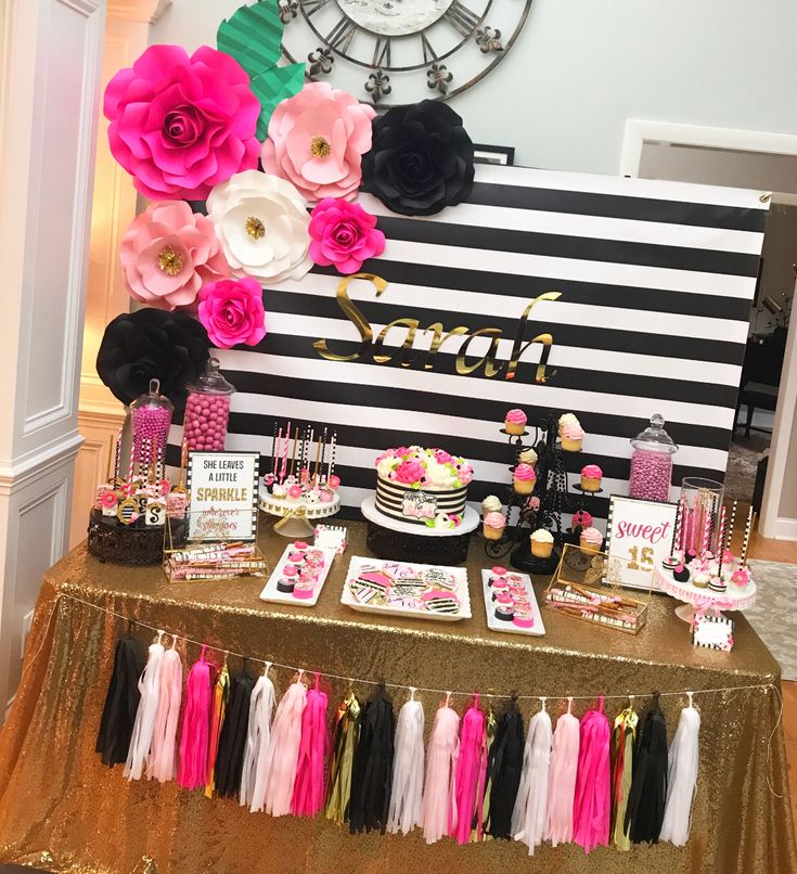 Dessert table backdrop made by my client using The Crafty Sagittarius Paper Flower Templates