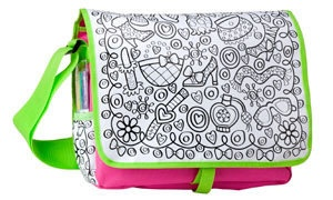 Color a Fashion Bag Back to School Messenger by TazzyJazzyKnits, $30.00