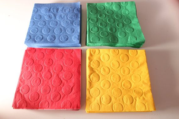 Pack of 48 beverage sized Lego inspired party by wrapsidazy