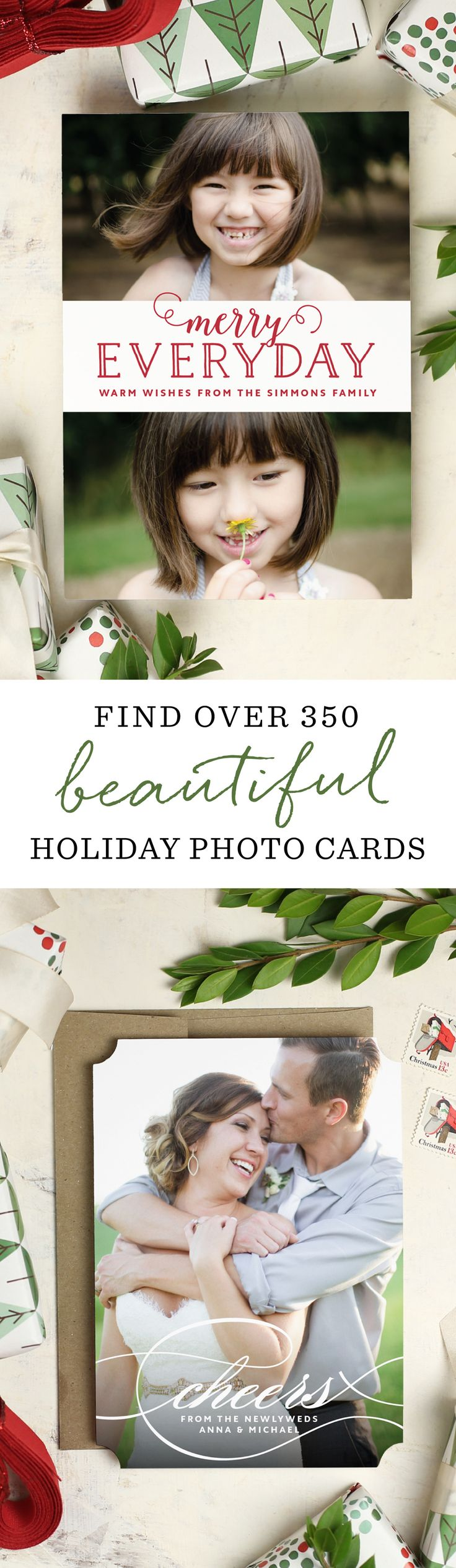 30% off 100's of fully customizable  stunning holiday cards.  Add photos, change fonts, and colors with real-time previews.