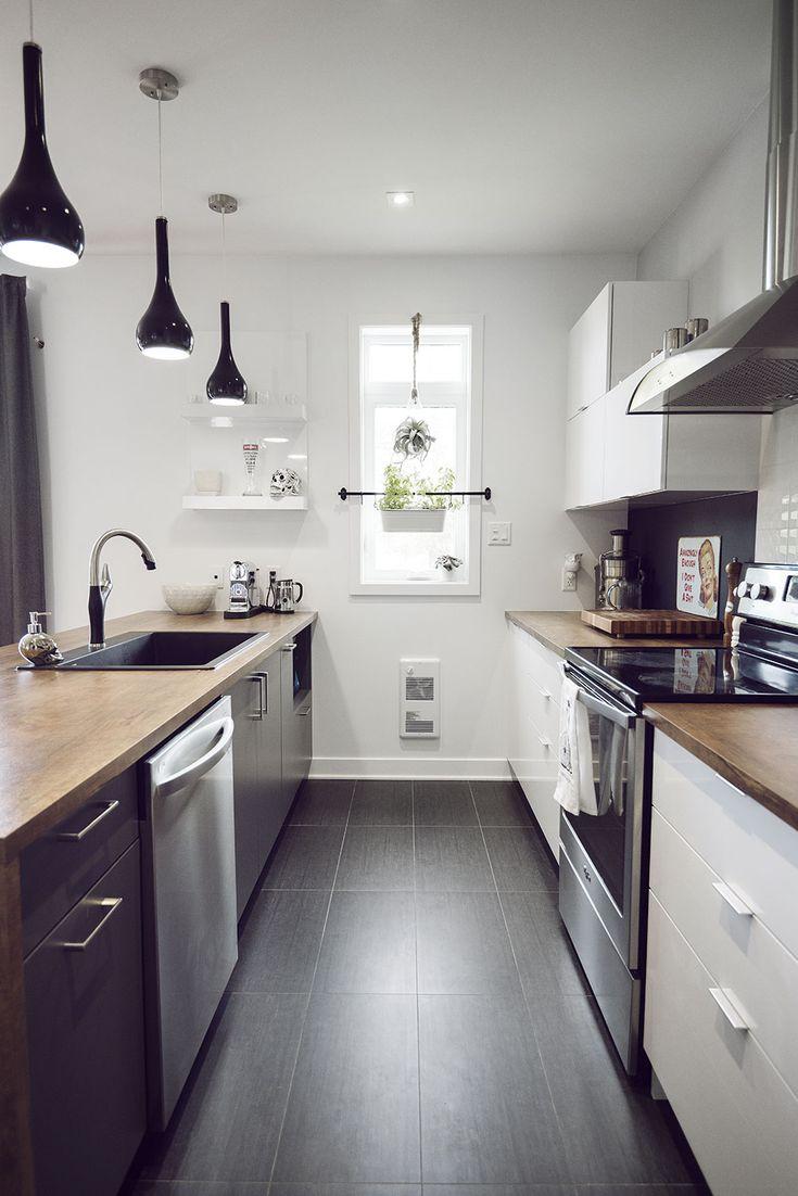 Lumineuse, une cuisine moderne toute en lumière.