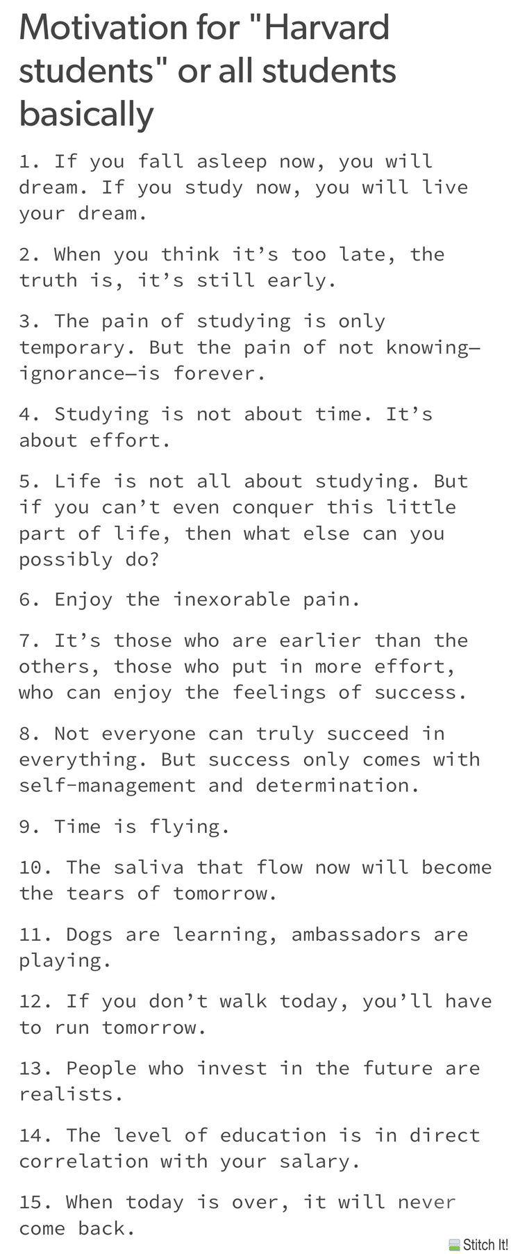 Denken Sie daran, nicht zu lange aufbleiben zu lernen. Tatsächlich zeigen Studien das
