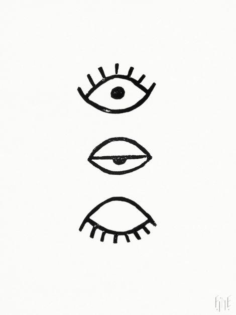 Poster Eye Eye, FINE LITTLE DAY / POSTERS Offset print, Design: Marta Fromme Mått: 50x70 cm Design: Marta Fromme, Fine Little Day