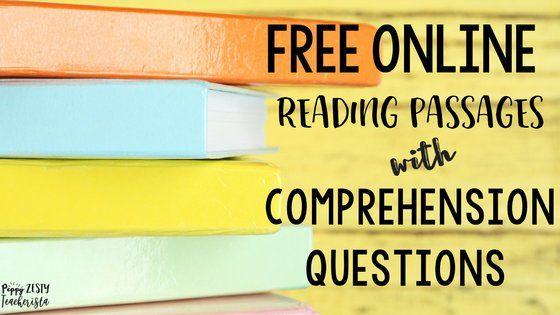 FREE reading comprehension worksheets. This blog post has over 10 FREE online reading comprehension worksheets for you to use!