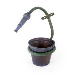 unusual metal wall mounted hose pipe design plant pot. Black Bedroom Furniture Sets. Home Design Ideas