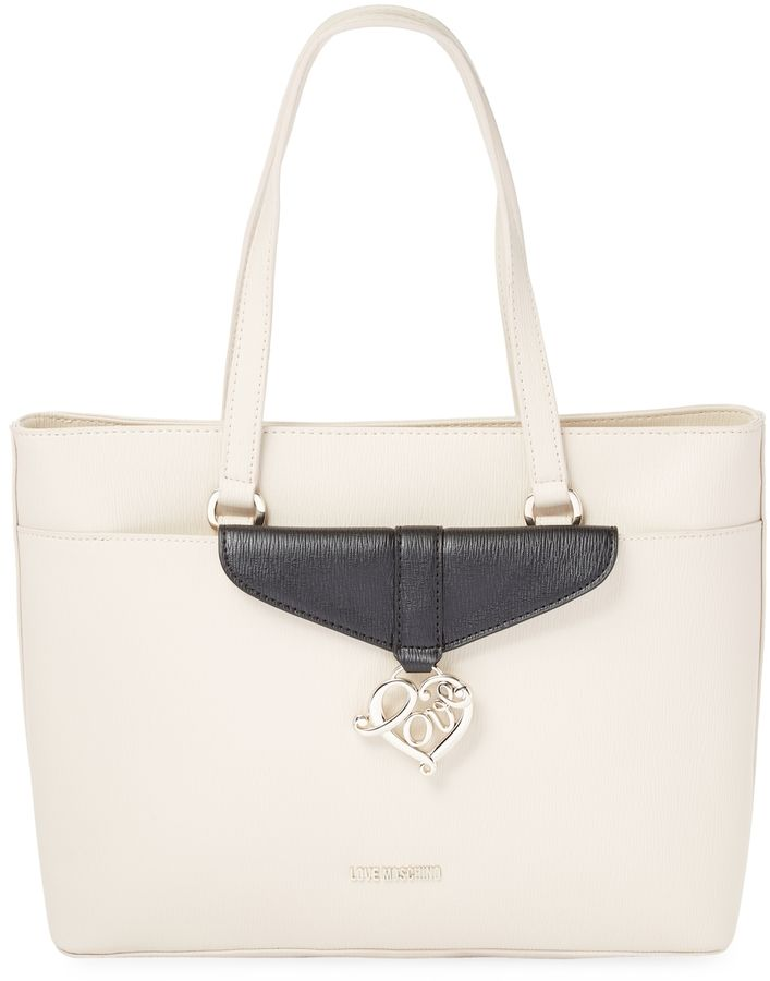 Love Moschino Women's Solid Leather Tote Bag ON SALE!!! Looking for great Christmas gifts? Check it out today! :)
