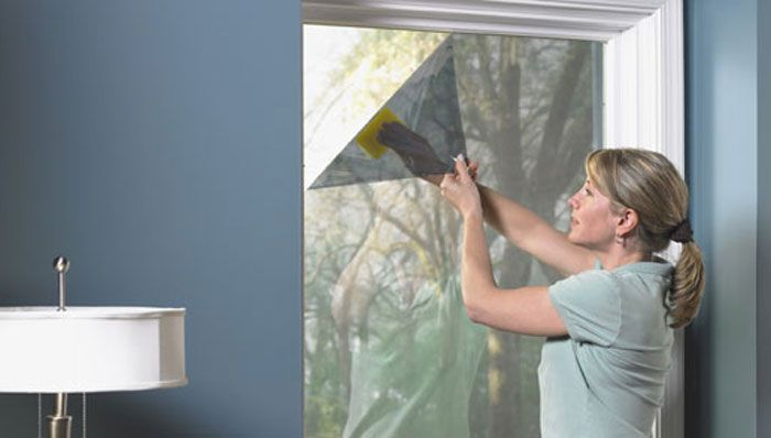 Window film - helps reduce heating and cooling costs. Food for thought.