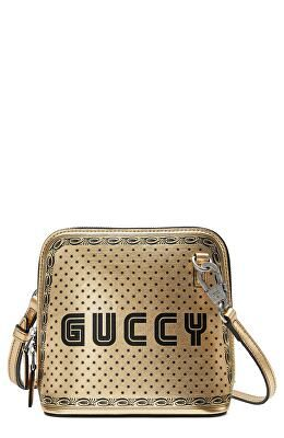 9aa6879d455 GUCCI Designer Guccy Logo Moon   Stars Leather Crossbody Bag ...