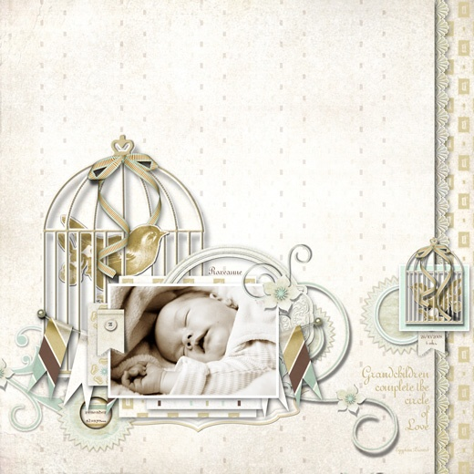 Made with the Pascalle Collection designed by Lauren Bavin.  Love the bird and his cage!!
