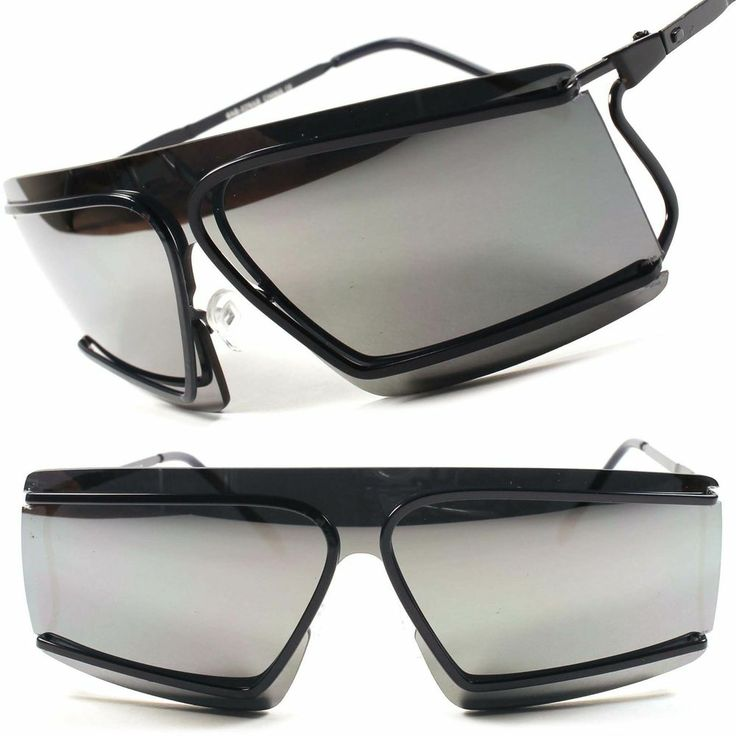 Alien Space Party Costume Cyclops Novelty Mirrored Futuristic Sunglasses C16A #KISS #Futuristic