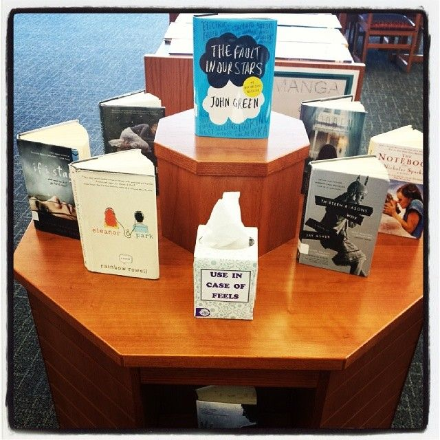 The simplest and saddest book display