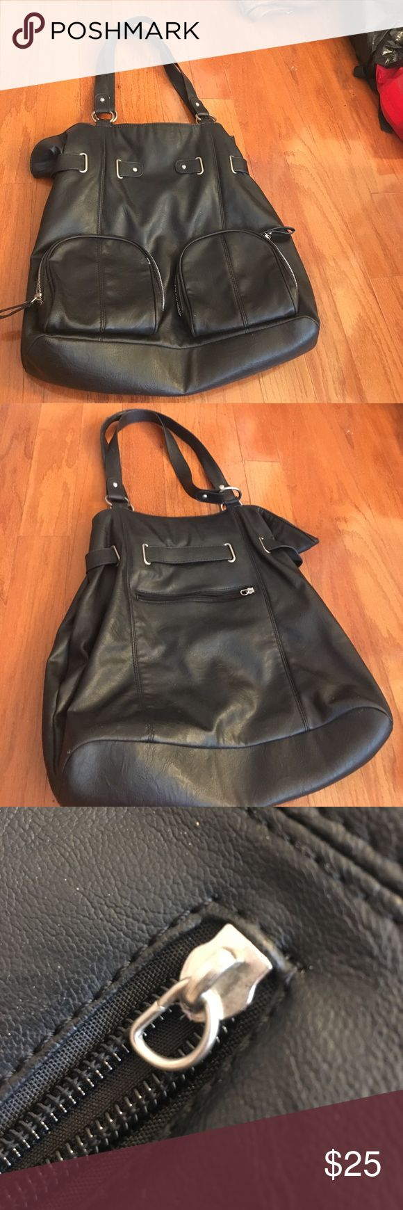Black purse Some damage but otherwise in really good condition Nordstrom Bags Shoulder Bags