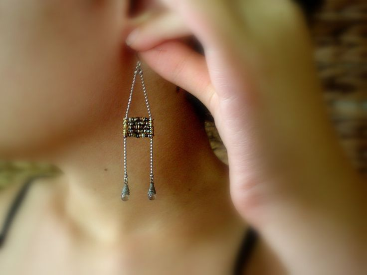 Boho Ladder Earrings - Bohemian Chic - Textured Mixed Metal Beads - Everyday Earrings - Perfect Gift For Girlfriend - Mother's Day Gift