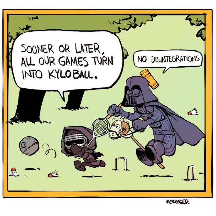 "brian kesinger on Twitter: ""#calvinandhobbes #StarWars #mashup #calvinball #qto12 #darthvader #kyloren #lilkylo"